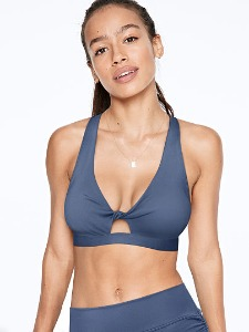 PINK Twist Front Lightly Lined Sports Bra 398-738